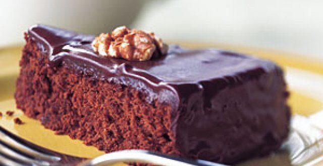 Pastel de chocolate con nueces, muy sabroso…